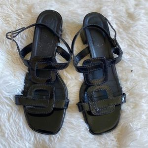 ◾️3/$25 Vintage Black Heeled Sandals